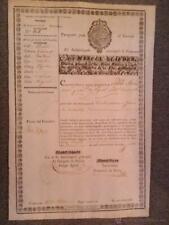 Passeport Interne Pour 1834 (30X21)