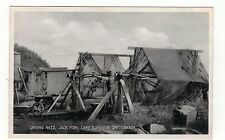 DRYING NETS,JACK FISH,LAKE SUPERIOR.ONT.. OLD PRINTED POSTCARD.
