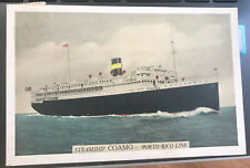 S. S. Coamo Sea Post Porto Rico 1940 On Postcard Of The Ship. Puerto Rico