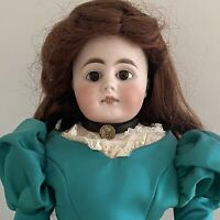 "Bahr and Proschild 305/9 21"" German Bisque Head Doll with Cloth Body And Costume"