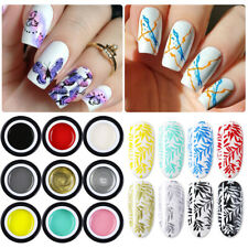 BORN PRETTY 5ml Stamping Gel Nail Polish Black White Silver Stamping Gel UV LED