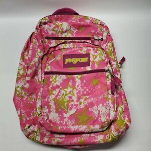 JanSport Pink & Gold Stars Print Girls School Backpack