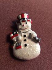 Dancraft, Vintage snowman pin/brooch.