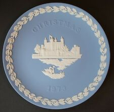 Wedgwood 1973 Christmas Plate Jasperware : Tower of London