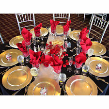 Set Of 65 Gold Lacquer Decorative Charger Dinner Table Under Plate Wedding Mat