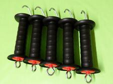 10 x Torgriffe schwarz Zugbegrenzung Weidezaun Pferde