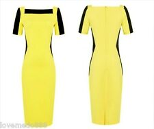 New Optical Illusion Colorblock Fitted Bodycon wear work casual Pencil Dress 2XL