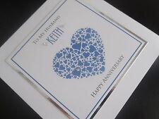 Handmade Personalised Wedding Anniversary Card: Husband/Fiance/Boyfriend