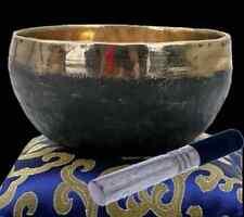 Klangschale schwarz/gold - Nepal ± 300 g mit Holzstab Ishana