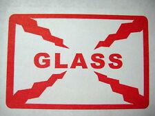 500  2x3 GLASS warning label- BEST SELLER