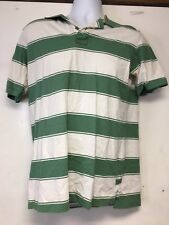 Roebuck Co Collar Dress Shirt Large Green White Preowned