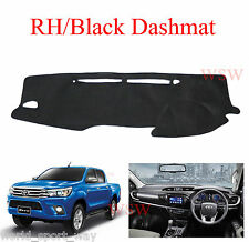 BLACK DASH MAT to Suit NEW TOYOTA Hilux 2016-ON SR5 SR Workmate MY16 2017 17 18