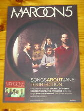 MAROON 5 - SONGS ABOUT JANE -  Laminated Promotional Poster