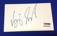 "Vijay Singh signed 3""x 5"" Cut PSA/DNA # B64494"