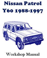 NISSAN PATROL Y60 1988 - 1997 WORKSHOP SERVICE REPAIR MANUAL ON CD - THE BEST !!