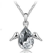 1pc Lady Angel Wing Pendant Necklace Current Bridal Crystal Wedding Jewelry Hot
