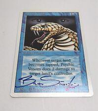 Magic The Gathering Psychic Venom Signed Copy