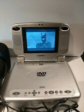 "Audiovox Portable DVD Player VBP4000 5.6"" LCD Color Monitor Silver Detach Screen"