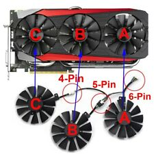 T129215SU Cooler Fan For ASUS STRIX GTX 980TI RX480/580 R9 390X/R9 390 GTX 1060
