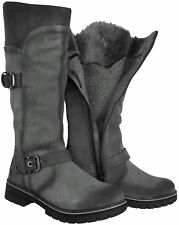 Marco Tozzi 26615 Black Suede Warm Fur Lined Winter Knee High BOOTS Size 7