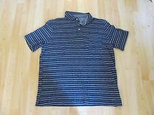Men's Merona navy blue striped polo shirt top size XL Extra Large (worn 1X)