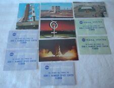 Vintage NASA TOURS LOT 5 Original Kennedy Space Center Tour Ticket + 5 Postcards