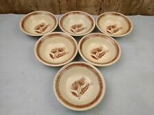 "Churchill Homespun Stonecast 5"" Nibble or Dipping Bowls. Set Of 6. Wheat"