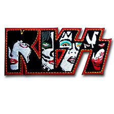 Kiss Patch Logo Emblem Iron on Band Biker Punk Heavy Metal Rider Vest Rock Sew