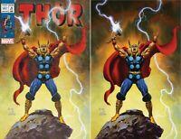 Thor #1 Joe Jusko Exclusive Donny Cates 2020 Limited Vintage/ Virgin Variant Set