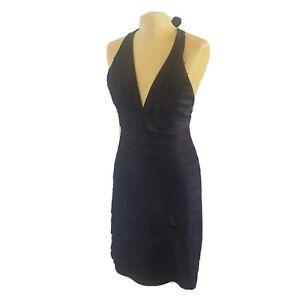 Lipsy Black Ruffled Halter Neck Size 12 Dress Party Formal Glam Evening Wear