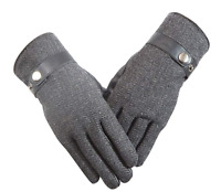 Mens winter glove Leather Warm wool glove thermal touch screen glove windproof