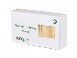 1000pcs Double Pointed Oral Care Toothpick Wooden Bamboo Tooth Picks Sticks NEW