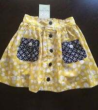 NWT * 2013 PERSNICKETY* SAIL AWAY CHLOE SKIRT, NAVY & YELLOW  Size 10
