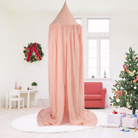 Pink Bed Canopy Mosquito Net For Kids Baby Crib Princess Round Hang Dome