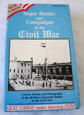 Major Battles and Campaigns of the Civil War - 40 Quiz Cards