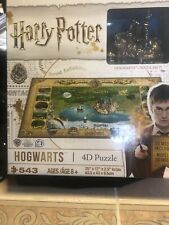 New! Harry Potter HOGWARTS 4-D Puzzle 543 Pieces 3-D Models Included (0048)
