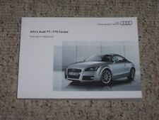 1-3 DAYS FREE FAST SHIPPING 2011 AUDI A5 COUPE OWNERS MANUAL SET