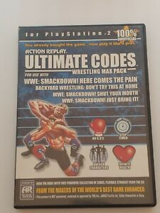Action Replay Ultimate Codes Wrestling Max Pack For PlayStation 2 PS2
