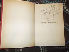 l'italia nella guerra mondiale di pietro scipione anno 1930 autografato