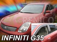 INFINITI G-35 4-portes 2003-2006 Deflecteurs de vent 4-pièces HEKO Bulles