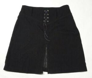 Copper Key Women's Size 5 Front Slit Corset Slit Lace up Front Black Skirt