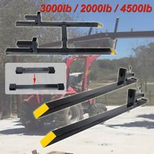 "2000lbs 4500lbs Clamp on 43"" 60"" Pallet Forks Loader Bucket Tractor Stabilizer"