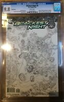 Blackest Night #8 1:100 Reis Sketch Variant CGC 9.8