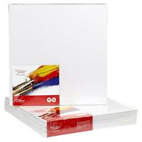 "CANVAS PANELS 12 PACK - 8""X8"" SUPER VALUE PACK Artist Canvas Panel Boards for..."