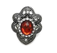 3D Crystal Heart Chunk Charm Snap Button Fit For Noosa Necklace/Bracelet  NSKZ6