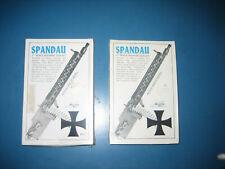 "Two Williams Bros Spandau Machine Gun 2"" Scale Model Kits In Sealed Boxes"
