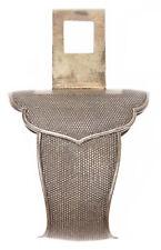 Antique Japanese Shibuichi Nanako Ashi Hanger Tachi Style Sword Fitting Koshirae
