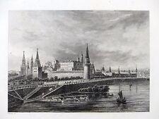 Aubert - MOSCOU - Gravure sur acier 19e siècle