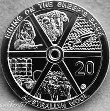 ** 2011 scarcer Australian Wool 20 cent  coin UNC **