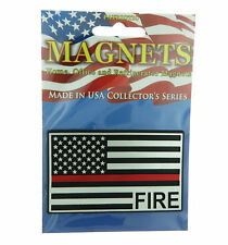 Fire Thin Red Line USA Flag Home Office Refrigerator Patriotic Magnet
